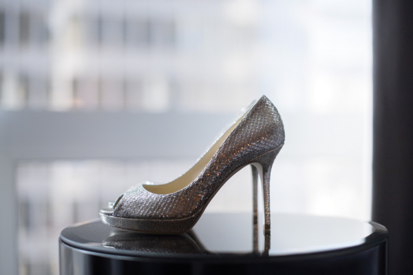 Silver Jimmy Choo Pumps