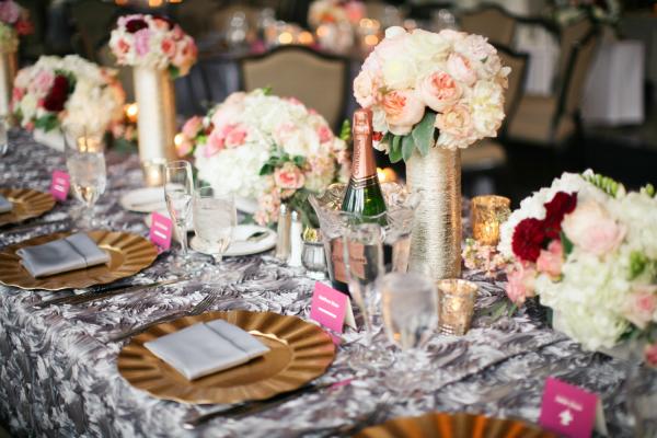 Silver Wedding Linens