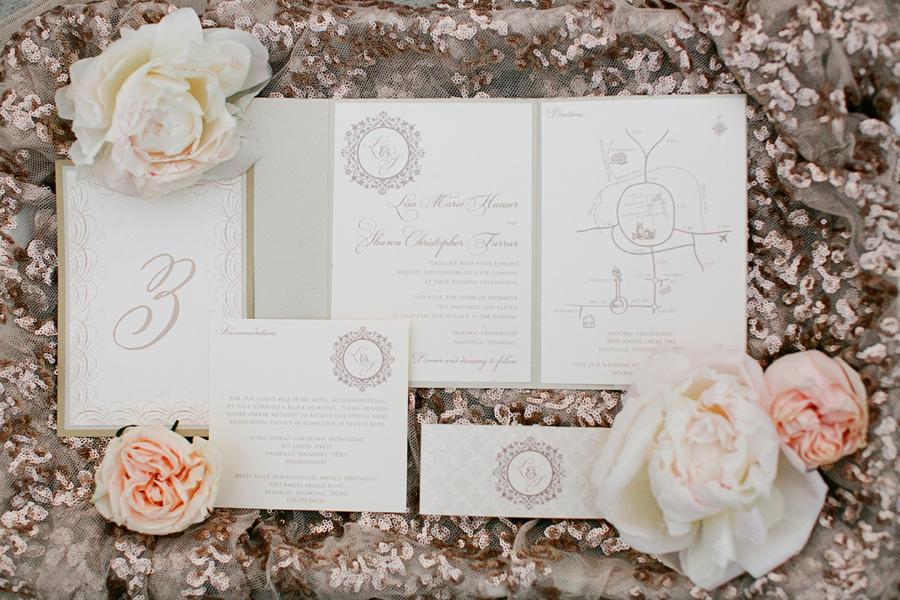 Taupe Wedding Invitations - Elizabeth Anne Designs: The Wedding Blog