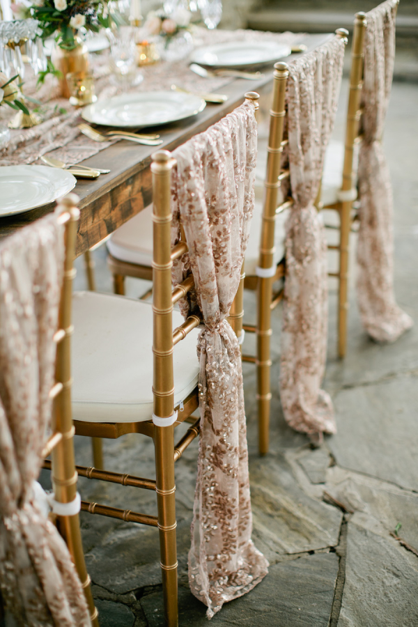Textured Gold Chair Covers