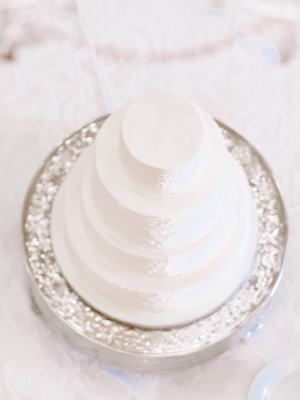 Tiered White Wedding Cake