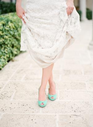 Tiffany Blue Bridal Shoes