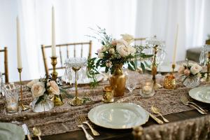 Vintage Inspired Gold Tabletop