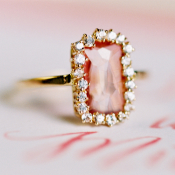 Vintage Pink Wedding Ring