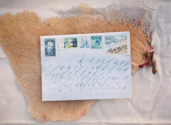 Watercolor Washed Wedding Envelope