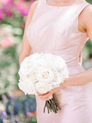 White Rose Bridesmaids Bouquet