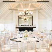 White Waterside Wedding Reception