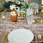 White and Gold Place Setting