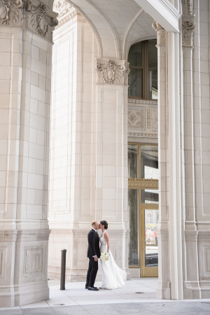 Wrigley Building Chicago Wedding Photos