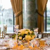 Yellow and Green Spring Centerpiece