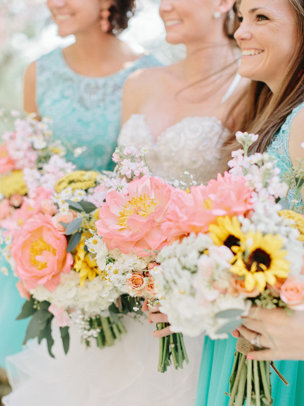 Yellow and Peach Bouquets