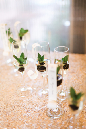 Berries in Champagne Glasses