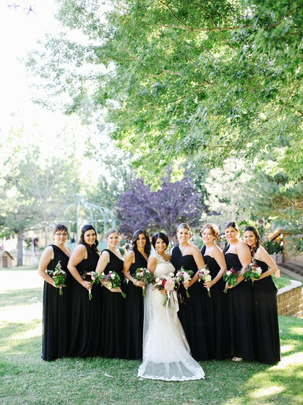Black Grecian Bridesmaids Dresses