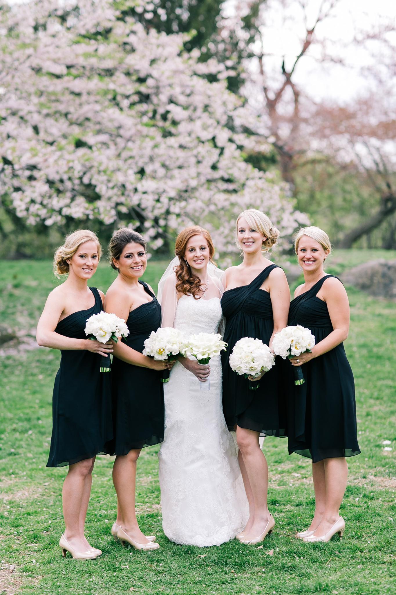 Black One Shoulder Bridesmaids Dresses