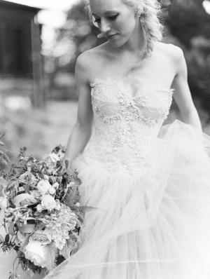 Black and White Film Bridal Portrait
