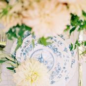Blue Toile Wedding China