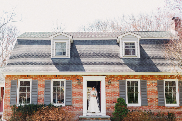 Bride at Family Home