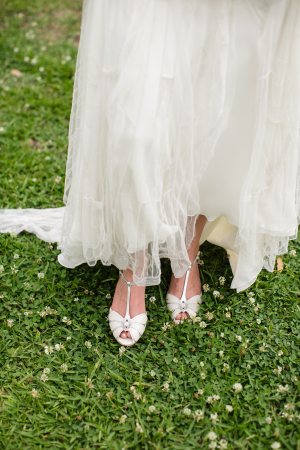 Bride in BHLDN Shoes