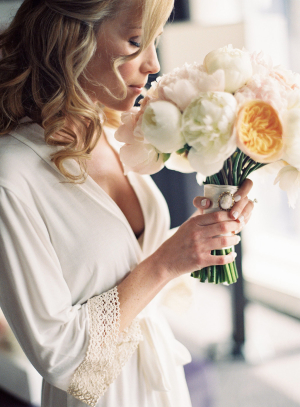 Bride in White Robe