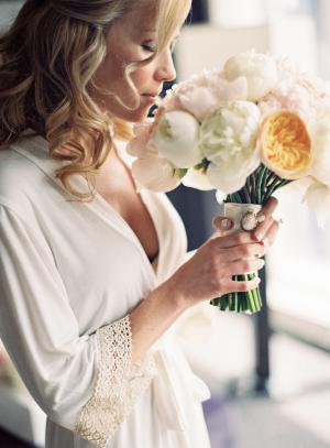 Bride in White Robe
