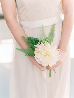 Bridesmaid with Single Flower Bouquet