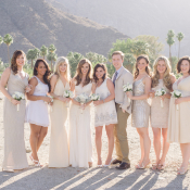 Bridesmaids and Bridesman in Taupe