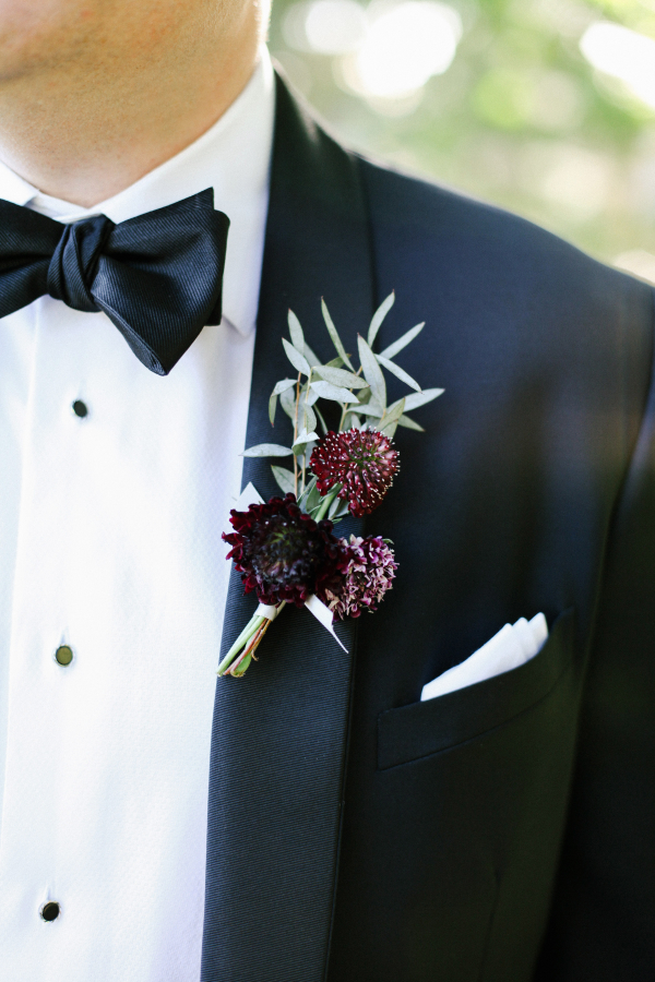 Burgundy Boutonniere Elizabeth Anne Designs The Wedding