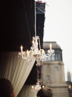 Chandelier Restaurant Wedding