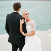 Chicago Lake Wedding Portrait