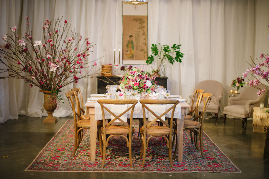 Dinner Party Table with Branches