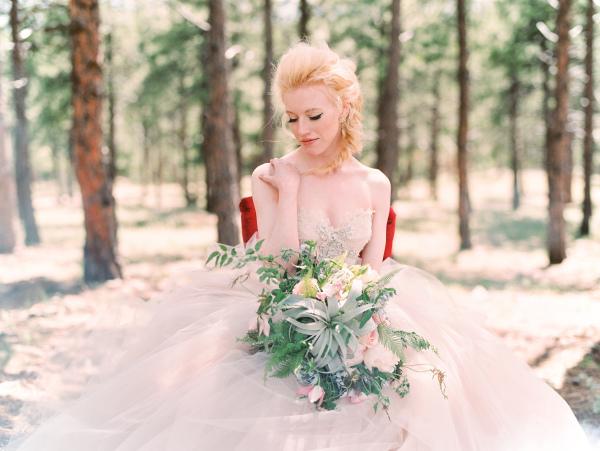 Elegant Bride in Pink