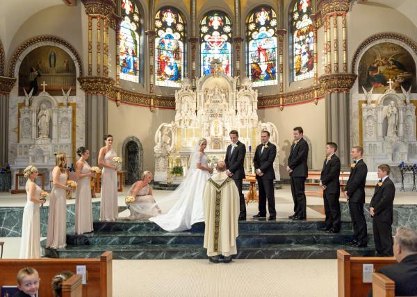 Elegant Chicago Church Wedding Ceremony