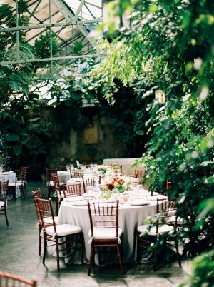 Elegant Green and Burgundy Reception
