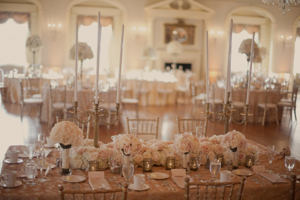 Elegant White and Gold Reception