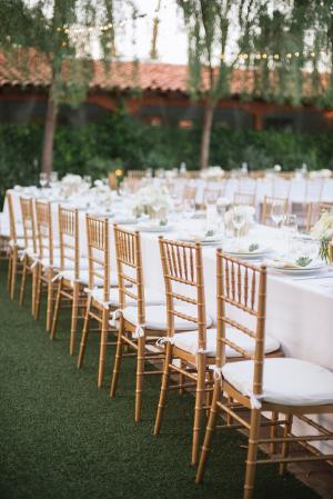 Estate Tables Outdoor Wedding
