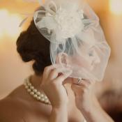 Flower Veil Bridal Headpiece