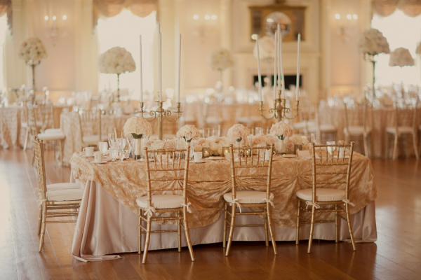 Gold Ballroom Wedding