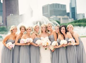 Gray Bridesmaids Dresses