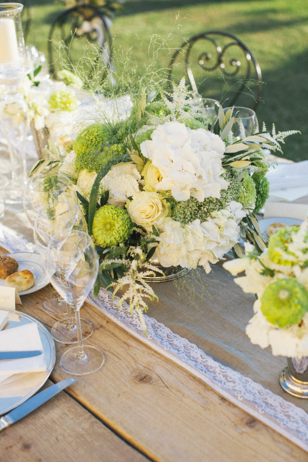 Green and Yellow Centerpiece