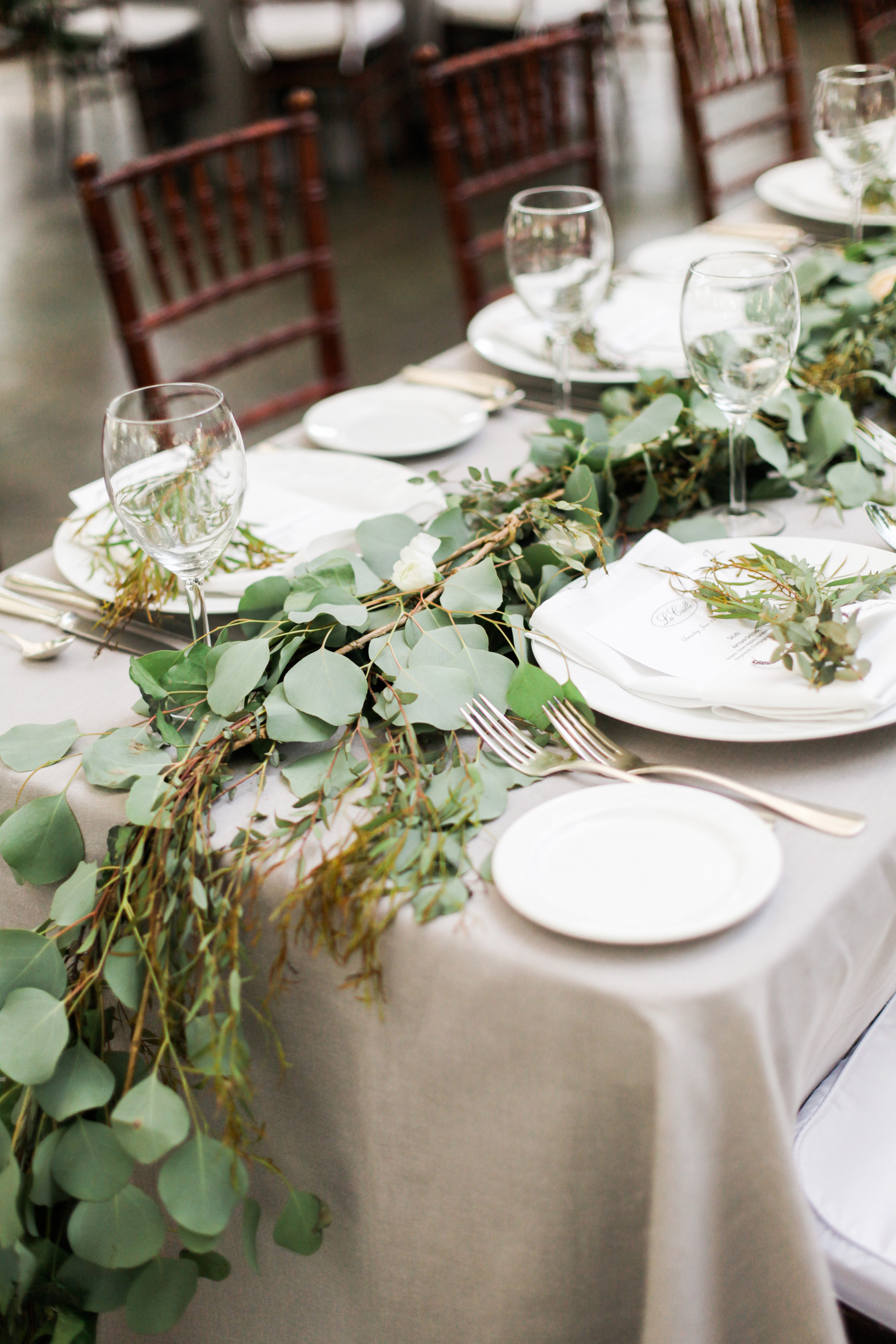 Greenery garland runner elizabeth anne designs the for Wedding greenery ideas