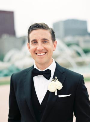 Groom Modern Chicago Wedding