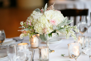 Ivory and Blush Centerpieces