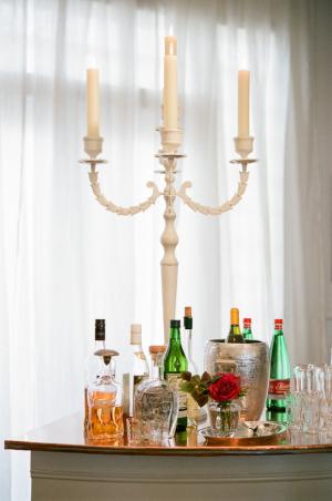 Liquor on Cocktail Table