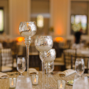 Mercury Glass Candlesticks Reception Decor