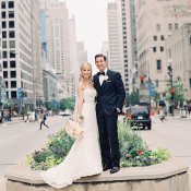 Michigan Avenue Wedding Photo