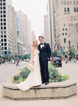 Michigan Avenue Wedding Photo
