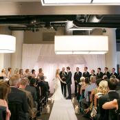 Modern Restaurant Wedding Ceremony