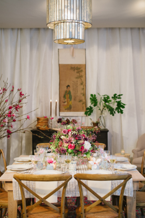 Natural Wedding Table Setting