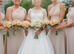 Peach Rose Bouquets
