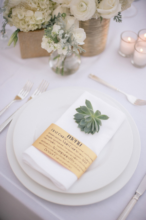 Place Setting with Succulents